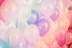 Globos del color en colores pastel Foto de archivo libre de regalías