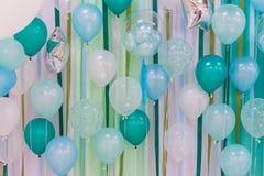 Globos del color en colores pastel Foto de archivo