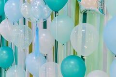 Globos del color en colores pastel Fotos de archivo libres de regalías