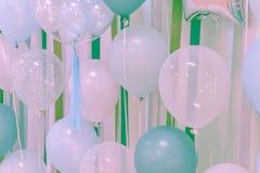 Globos del color en colores pastel Imágenes de archivo libres de regalías