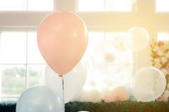 Globos del color en colores pastel Fotografía de archivo libre de regalías