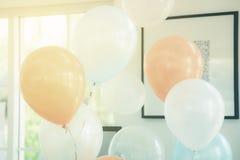 Globos del color en colores pastel Imagen de archivo