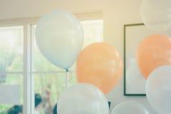 Globos del color en colores pastel Fotografía de archivo