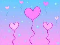 Globos del corazón stock de ilustración