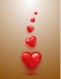 Globos del corazón Imagen de archivo libre de regalías