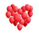 Globos del corazón Fotos de archivo libres de regalías