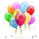 Globos del cumpleaños Foto de archivo libre de regalías