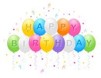 Globos del feliz cumpleaños libre illustration