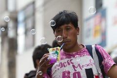 Globos del jabón Foto de archivo libre de regalías