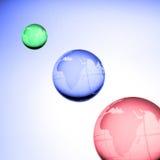 Globos del mundo ilustración del vector