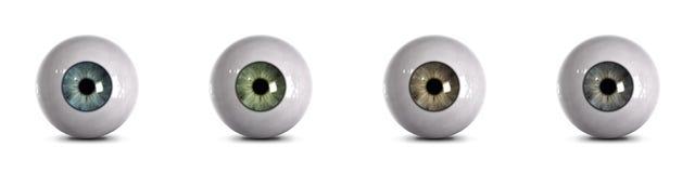 Globos del ojo con el camino de recortes Fotografía de archivo libre de regalías