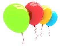 globos del partido 3D Imagen de archivo libre de regalías