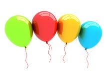 globos del partido 3D Imagenes de archivo