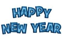 Globos del partido de la Feliz Año Nuevo Imagen de archivo libre de regalías