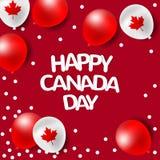 Globos del partido para el día nacional de Canadá Imágenes de archivo libres de regalías