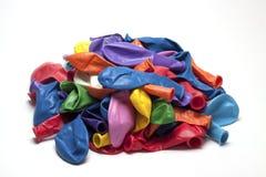 Globos desinflados Imagenes de archivo