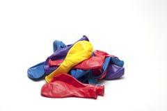 Globos desinflados Foto de archivo libre de regalías