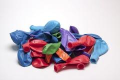 Globos desinflados Imágenes de archivo libres de regalías