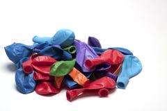 Globos desinflados Fotografía de archivo libre de regalías