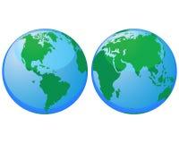 Globos do mundo Fotos de Stock Royalty Free