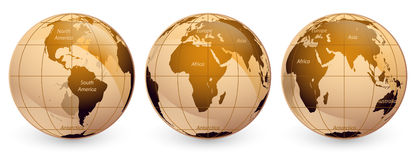 Globos do mundo Fotografia de Stock