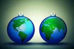 Globos do Natal ilustração stock