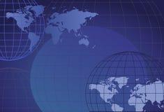Globos e mapas Fotografia de Stock