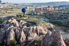 Globos en Cappadocia Fotografía de archivo libre de regalías
