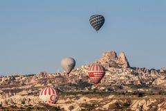 Globos en Cappadocia Foto de archivo