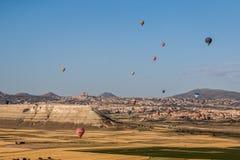 Globos en Cappadocia Foto de archivo libre de regalías