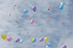 Globos en el cielo Imagen de archivo