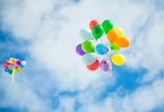 Globos en el cielo Imágenes de archivo libres de regalías