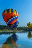 Globos en el cielo, festival del globo, fiesta internacional 2017 del globo de Singhapark Fotografía de archivo libre de regalías
