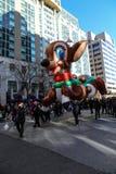 Globos en el desfile del día de fiesta Fotos de archivo
