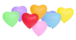 Globos en forma de corazón coloridos Imagenes de archivo