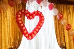 Globos en la boda Imagen de archivo libre de regalías