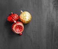 Globos festivos de la Navidad Imagen de archivo