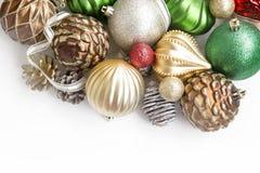Globos festivos de la Navidad Fotografía de archivo libre de regalías