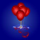 Globos hermosos del extremo del símbolo del corazón Fotos de archivo