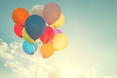 Globos multicolores imagen de archivo libre de regalías