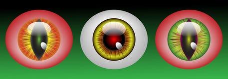 Globos oculares lustrosos do monstro Fotografia de Stock