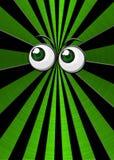 Globos oculares verdes no fundo da explosão da estrela Foto de Stock