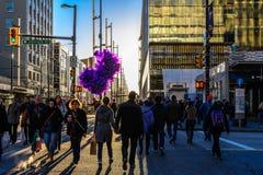 Globos púrpuras Fotografía de archivo