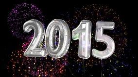 Globos que dicen 2015 por el Año Nuevo ilustración del vector