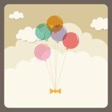 Globos que vuelan en el cielo Fotografía de archivo libre de regalías