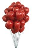 Globos rojos Fotos de archivo libres de regalías