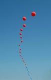 Globos rojos Foto de archivo