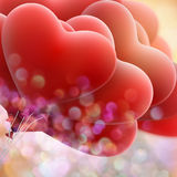 Globos rojos del amor EPS 10 Fotografía de archivo