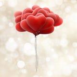 Globos rojos del amor EPS 10 Imagenes de archivo