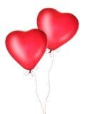 Globos rojos del corazón Fotos de archivo